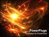 PowerPoint Template - Fireworks display with bright orange and yellow colors
