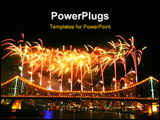 PowerPoint Template - fireworks with copyspace at the top..