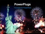 PowerPoint Template - The Statue of Liberty and 4th of July fireworks in NYC