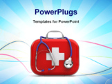 PowerPoint Template - Stethoscope and First Aid Kit isolated