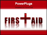 PowerPoint Template - First Aid reflected 3d text