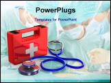 PowerPoint Template - Stethoscope and first aid on white background. Isolated 3D image