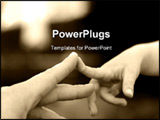 PowerPoint Template - put the fingers together