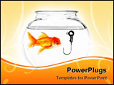 PowerPoint Template - Hook in a Fish Bowl Concept of Being Taken Advantage Of