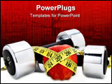 PowerPoint Template - weights and apple and a tape measure
