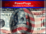 PowerPoint Template - background from american flag and one hundred dollars