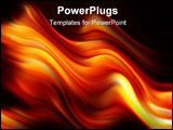 PowerPoint Template - Digitally generated background orange and red fire flames over black