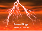 PowerPoint Template - image of lightening