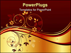 PowerPoint Template - Floral art design decor background vector illustration