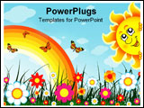 PowerPoint Template - Floral background with place for your text