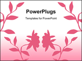 PowerPoint Template - Nice pink floral background
