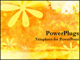 PowerPoint Template - Yellow flower stylized background.