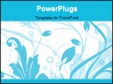 PowerPoint Template - floral background. illustration can be used as a postcard
