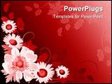 PowerPoint Template - Grunge paint flower background element for design illustration