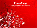 PowerPoint Template - Abstract floral background element for design illustration