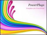 PowerPoint Template - Floral art design decor blue background vector
