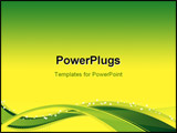 PowerPoint Template - Flow Background with yellow-green waves and blend effects