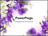 PowerPoint Template - blue campanulas and white lily isolated over white
