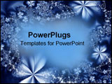 PowerPoint Template - Blue abstract flowers.