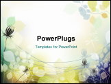 PowerPoint Template - flower background. Eps10