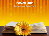 PowerPoint Template - yellow flower in open book
