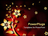 PowerPoint Template - Abstract Background with flower and butterfly for your design