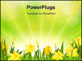 PowerPoint Template - Flowers Easter Background