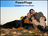 PowerPoint Template - couple with new born baby