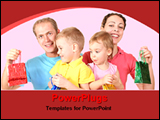 PowerPoint Template - parents with their babies with bags