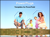 PowerPoint Template - family of four posing together