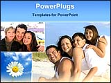 PowerPoint Template - children with parents with enjoing family life
