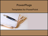 PowerPoint Template - Folder and pen on the table