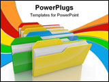 PowerPoint Template - the Colour folders on white a background