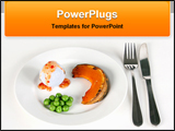 PowerPoint Template - healthful food in a dish
