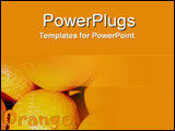 PowerPoint Template - Succulent oranges