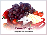 PowerPoint Template - composition with food at white table
