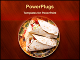 PowerPoint Template - Tortilla; traditional mexican food; fast-food with chicken