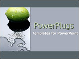 PowerPoint Template - Lime on modern reflective surface