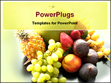 PowerPoint Template - a collection of rare exotic fruits