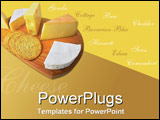PowerPoint Template - Cheese platter with text