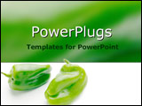 PowerPoint Template - Crisp green peppers