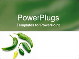 PowerPoint Template - Variety of fresh green chillies