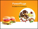 PowerPoint Template - Chocolate profiteroles with kiwi fruit, ice cream and burger