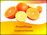 PowerPoint Template - image of fresh oranges