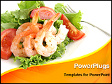 PowerPoint Template - image showing a shrimp salad