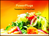 PowerPoint Template - delicious chicken salad
