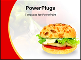 PowerPoint Template - Veggie burger over white