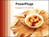 PowerPoint Template - Hummus and traditional Arabian flat bread or qubus