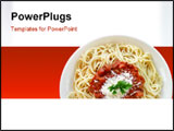 PowerPoint Template - spaghetti with tomato sauce