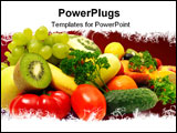PowerPoint Template - fruits and vegetables isolated on a white background
